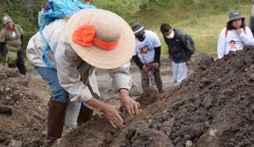 Victims' collectives locate 10 clandestine graves in Yecapixtla, Morelos